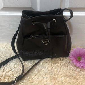 GUESS Brown Drawstring Bucket Bag